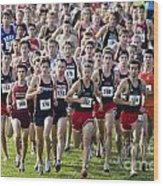 Cross County Race Wood Print