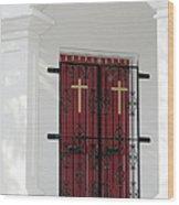 Key West Church Doors Wood Print