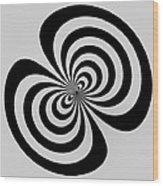 Cross Eyed Wood Print