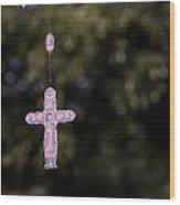 Cross In Time Wood Print