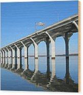 Cross Lake Bridge 1 Wood Print
