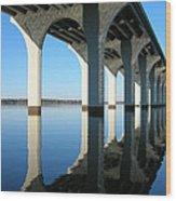 Cross Lake Bridge 2 Wood Print