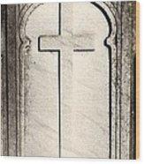Cross Monument Wood Print