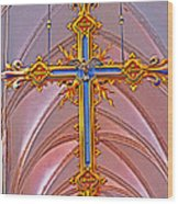 Cross Of Church Of Our Lady Wood Print