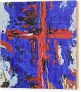 Cross Of The Patriot Wood Print