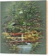 A Bridge To Cross Wood Print