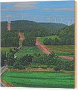 Cross Roads Wood Print