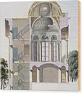 Cross Section Of The Pavilion Wood Print
