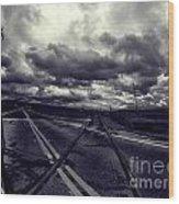Crossed Tracks Wood Print