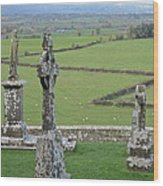 Crosses Of Cashel Wood Print