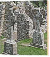 Crosses Of Clonmacnoise Wood Print