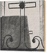 Crosses Voided Wrought Iron _ Nola Wood Print