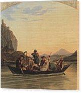 Crossing At Schreckenstein Wood Print