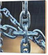 Crossing Chains Wood Print