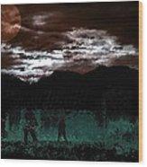 Crossing Moon Wood Print