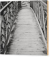 Crossing Over - Black And White Wood Print