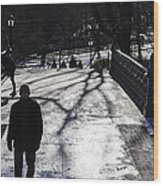 Crossing Over - Central Park - Nyc Wood Print