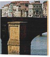 Crossing The Arno Wood Print