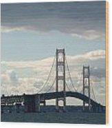Crossing The Bridge Wood Print