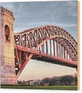 Crossing The East River Wood Print by JC Findley