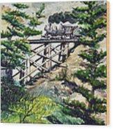 Crossing The Gap Wood Print
