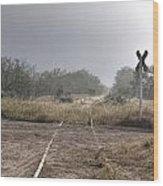 Crossing The Line Wood Print