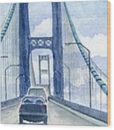 Crossing The Mackinac Wood Print