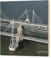 Crossing The Thames Wood Print