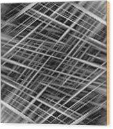 Mono Lines 3 Wood Print
