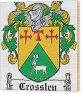 Crossley Coat Of Arms Irish Wood Print