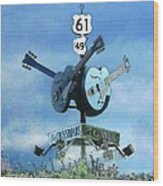 Crossroads In Clarksdale Wood Print