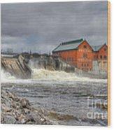 Croton Dam Wood Print