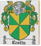 Crotty Coat Of Arms Irish Wood Print