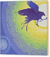 Crow, 1999 Gouache On Paper Wood Print