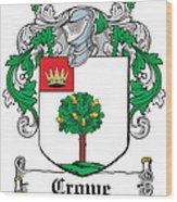 Crowe Coat Of Arms Irish Wood Print
