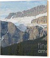 Crowfoot Glacier Wood Print