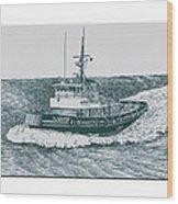 Crowley Tugboat Ocean Going Gladiator Wood Print