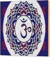 Crown Chakra Abstract Spiritual Artwork By Omaste Witkowski Wood Print