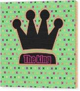 Crown In Pop Art Wood Print by Tommytechno Sweden