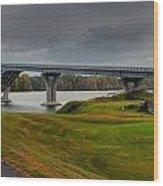 Crown Point Lake Champlain Panorama Wood Print