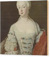 Crown Princess Elisabeth Christine Von Preussen, C.1735 Oil On Canvas Wood Print