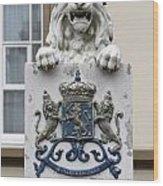 Crowned Lion  Wood Print