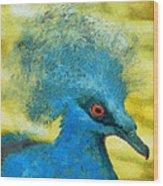 Crowned Pigeon Wood Print