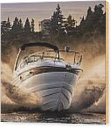 Crownline Boat Wood Print