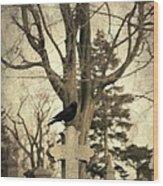 Crow's Cross Wood Print