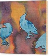 Crow Series 1 Wood Print