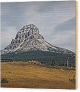 Crowsnest Mountain Wood Print