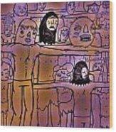 Crucification Wood Print