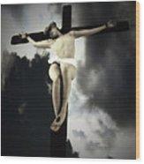 Crucified Christ Wood Print