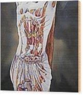Crucifijo En Plata Wood Print